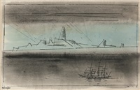 mirage, coast of nevermore by lyonel feininger
