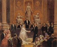 the wedding day by pierre paul léon glaize