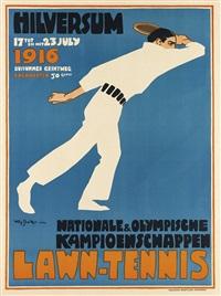 lawn-tennis/nationale & olympische kampioenschappen/hilversum by willy sluijter