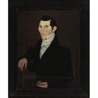 portrait of a dark haired gentleman by sheldon peck