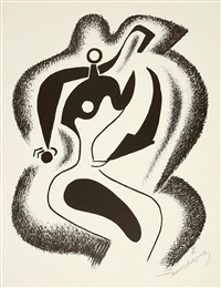 les formes vivantes, 10 lithographies originales (portfolio of 10) (+ 2 others; 12 works) by alexander archipenko