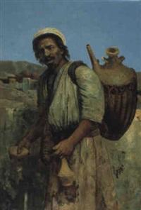 le porteur d'eau au bas de l'atlas by louis van hoorde
