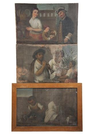 colloquial scenes 3 works by miguel cabrera