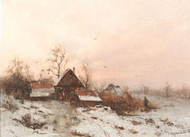 winterlandschaft by friedrich josef nicolai heydendahl