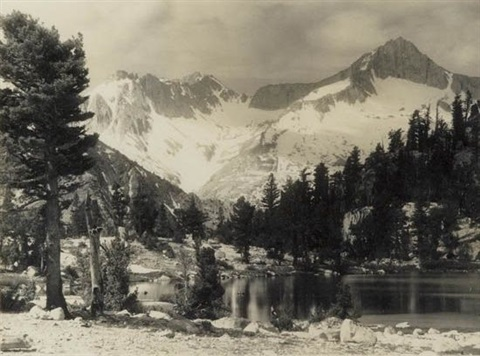 mount brewer from high sierras by ansel adams