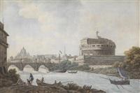 ansicht von rom mit dem castel sant'angelo by simone pomardi