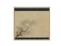 plum blossom and eagle by narimasa ikeda