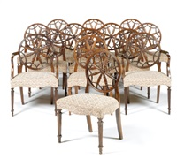dining chairs (set of 14) by robert adam