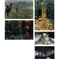 intercambios, amazonas, venezuela (5 works, 2 smaller, from intercambios) by laura anderson barbata