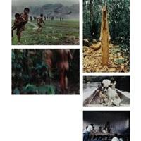 intercambios, amazonas, venezuela (5 works, 2 smaller, from intercambios) by laura anderson barbata