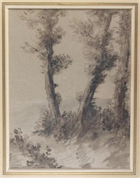 a stand of trees by alphonse legros