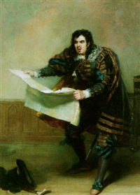 portrait of john vandenhoff in the character of sir giles overreach by robert william buss