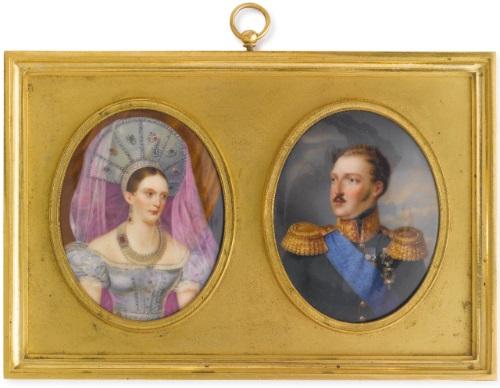 portrait of emperor nicholas i portrait of emperor alexandra fedorovna pair by franz krüger