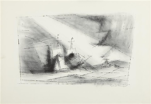 off the coast by lyonel feininger