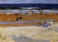 at the beach, ogunquit by russell taber hyde