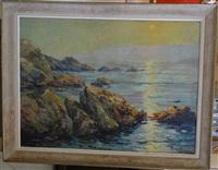 coucher de soleil sur la mer by pierre paul emiot