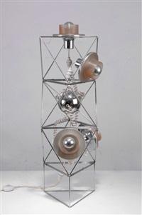 steh- oder deckenlampe poliedra by felice ragazzo