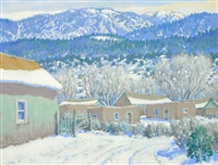 winter on the west slope of the sangre de cristo, nm by carl von hassler