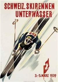 schweiz. skirennen unterwasser by martin peikert