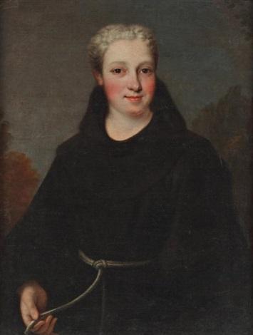 portrait de mademoiselle de charolais  by pierre gobert