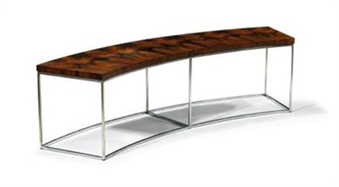 curved sofa table by milo baughman on artnet rh artnet com Octagon Sofa Round Sectional Sofa