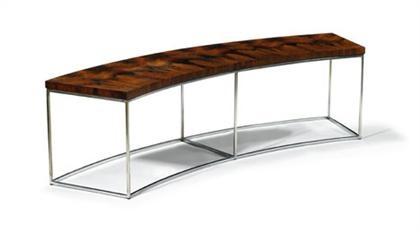 Superb Curved Sofa Table By Milo Baughman On Artnet Customarchery Wood Chair Design Ideas Customarcherynet