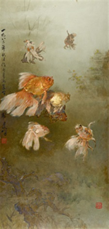 eight goldfish by lee man fong
