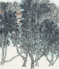 白松亭 by he haixia