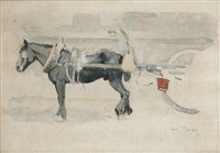 draft horse (study) by victor barvitius