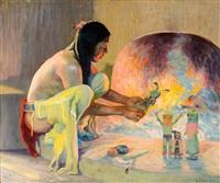 the kachina maker by eanger irving couse