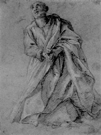 a kneeling monk by fra semplice da verona