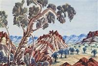 central australian landscape by otto pareroultja