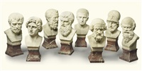 a set of eight busts of figures from classical antiquity (8 works) by anonymous-french (20)