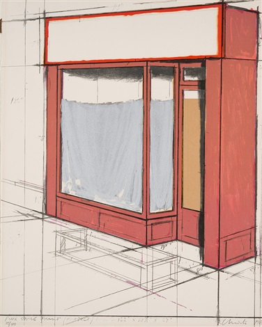 pink store front, project by christo and jeanne-claude