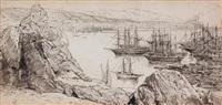 bateaux en mer by charles rochussen
