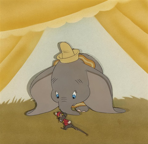 a celluloid of dumbo and timothy q mouse from dumbo by walt disney