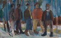 skogsarbeidere by thorstein rittun