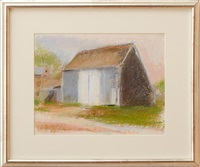 barns in sagaponack by wolf kahn