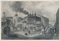 a correct view of the anchor brewery (+ view of mess.rs barclay and perkins's brewery, irgr; 2 works) by dean wolstenholme the younger