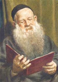 portrait of a rabbi by arthur charles shorthouse