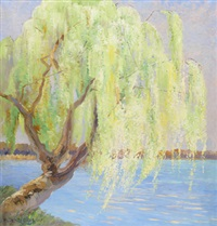 pilträd vid vattendrag by heinrich basedow