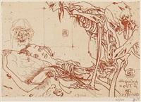 post scriptum (portfolio of 14) by horst janssen