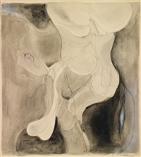composition aux nus, dessin double face by hans bellmer