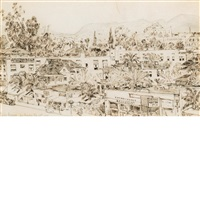 los angeles by childe hassam