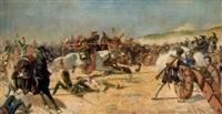 escena de batalla by josé aguado y guerra