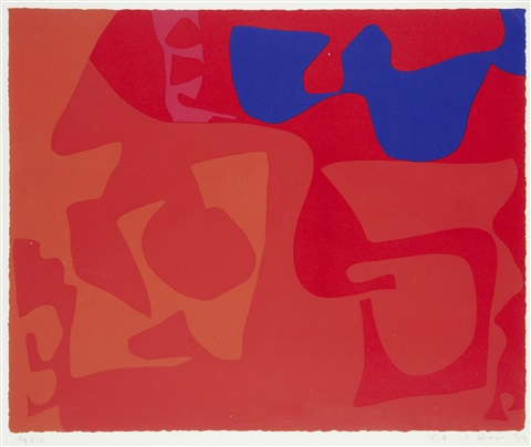 small red january 1973 4 by patrick heron