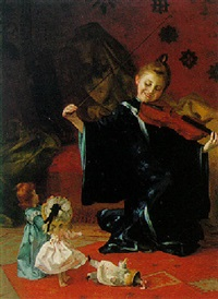 la petit violiniste by louis adolphe tessier