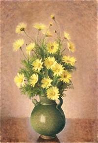 natura morta con vaso di fiori by noel quintavalle