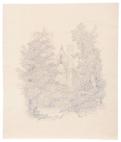 dunkeld abbey by carl gustav carus