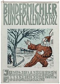 bindermichler kunstkalender 1982 (6 works) by josef fischnaller